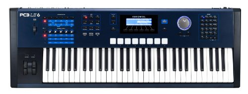 Kurzweil Pc3Le6 61 Note Synthesizer Action Performance Controller And Workstation Keyboard, Light Edition, Semi Weighted Keys, Blue And Black