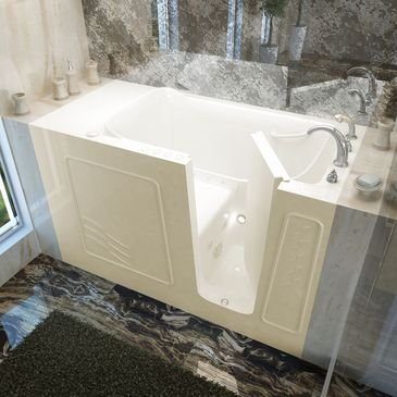 Bathtub With Seat Built In front-1060586