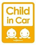 Seal&Sticker's シンプルデザインのChild in Car マグネットステッカー2series sts-cin-2-mg-org (オレンジ)