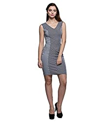 Tryfa Women's Dress (TFDRPN0000122-XL-L_Blue_Large)