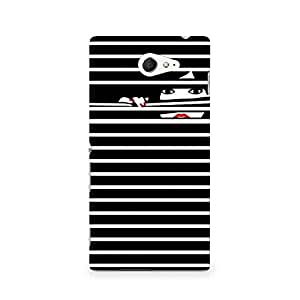 Motivatebox- Peekaboo Premium Printed Case For Sony Xperia M2 S50h -Matte Polycarbonate 3D Hard case Mobile Cell Phone Protective BACK CASE COVER. Hard Shockproof Scratch-