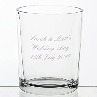 Personalised Votive Candle Holder from Pmc