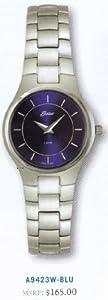 Belair Ladies Silver Swiss Watch - Blue Dial - Stainless Bracelet - New Ultra Slim Series