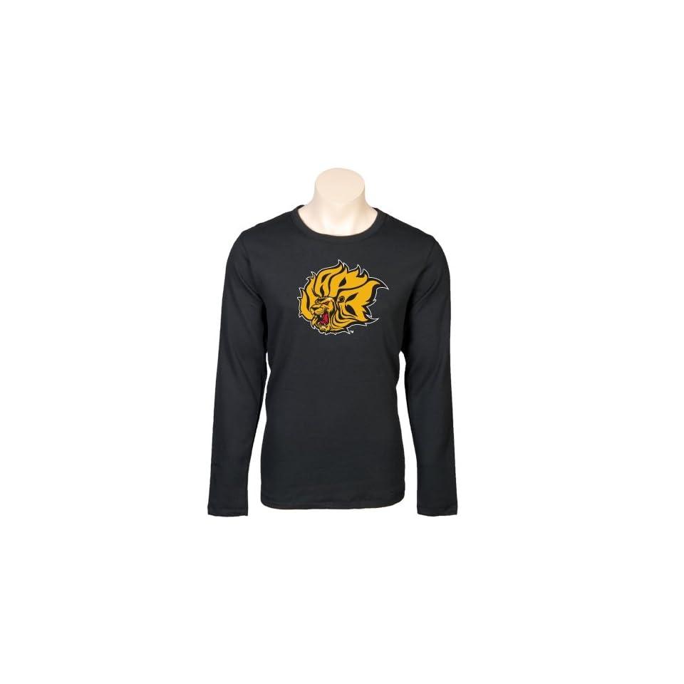 Arkansas Pine Bluff Longsleeve Black Thermal 'Lion Head'  Sports Fan T Shirts  Sports & Outdoors