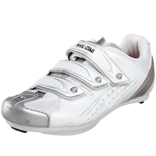 Pearl iZUMi Women's Select Road Cycling Shoe,White/Silver,38 M EU / US Women's 6 M