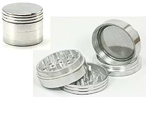 NEW Aluminium Tobacco Herb Grinder w/ Pollen Case 4 Parts