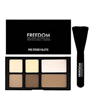 Freedom Makeup London - Pro Strobe and Contour Powder Palette With brush by Freedom Makeup London