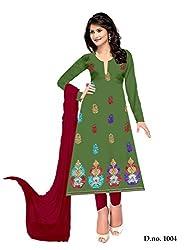 Shree Vardhman Mehendi Crap Unstitched Dress Material