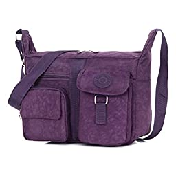 Women\'s Shoulder Bags Casual Handbag Travel Bag Messenger Cross Body Nylon Bags Purple