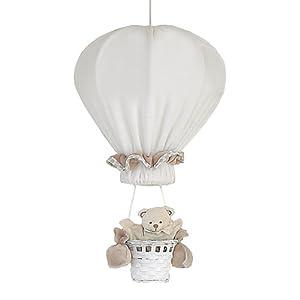 Câlin Câline Olivier 303.81 - Lámpara de techo para habitación infantil, diseño con forma de globo aerostático, color blanco