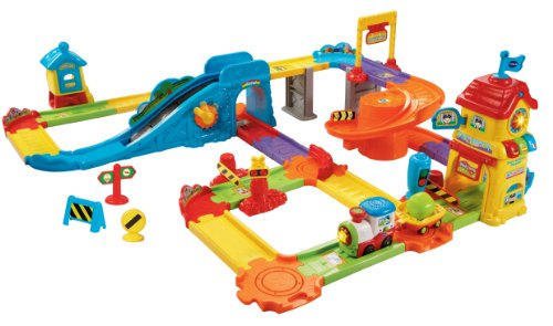 VTech 80-146700 Go! Go! Smart Wheels Train Station Playset - 1