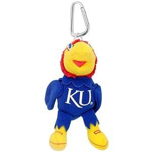 Buy Kansas Jayhawks Mascot Key Chain Backpack Clip by TeamHeads