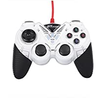 Dual Shock Wired USB Gamepad Controller For PC With Gripped Joysticks Ergonomic Design Vibration Force Feedback... - B00S879HE2