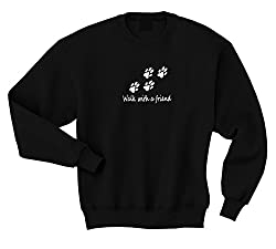 Walk With A Friend Ladies Or Gents Unisex sweatshirt dog walkers dog walking accessories kennels dog leads
