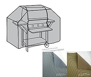 Housse de protection pour Barbecue à gaz 152 (l) x 57 (p) x 112/120(h)cm - Matière Premium 600D polyester, très résistante et anti-humidité - Gris