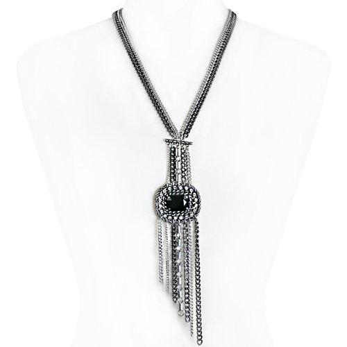 Tallulah Black Crystal Fashion Necklace