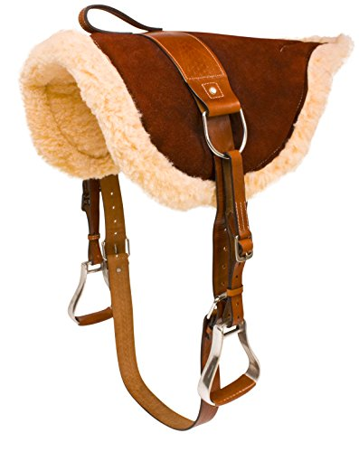 new-western-english-horse-riding-bareback-pad-premium-treeless-saddle-leather-stirrups-comfy-horse-s