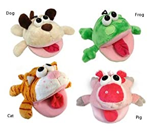 Vo-Toys Bite Me Big Mouth Frog with Sound Chip 7in Dog Toy