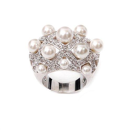 Fashion Trendy Pearl Ring #021564