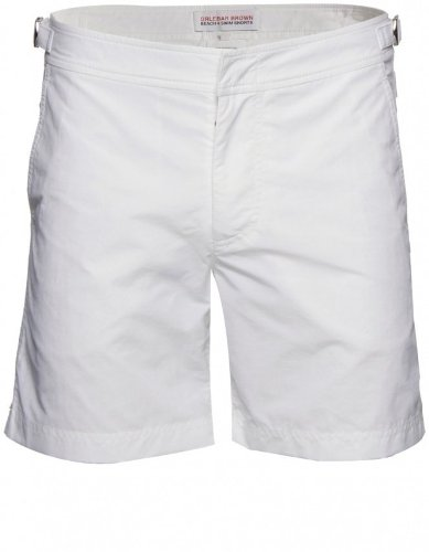 Orlebar Brown Men's Shorts White Bulldog Mid Length 32