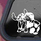 DISNEY White Sticker Decal LILO AND STITCH ALIEN Die-cut White Sticker Decal
