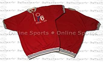 1967 Philadelphia 76ers Throwback Warm-Up Pullover From Mitchell and Ness by Mitchell & Ness