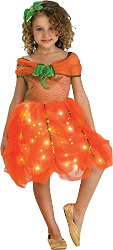 Child's Twinkle Pumpkin Princess Costume, Medium