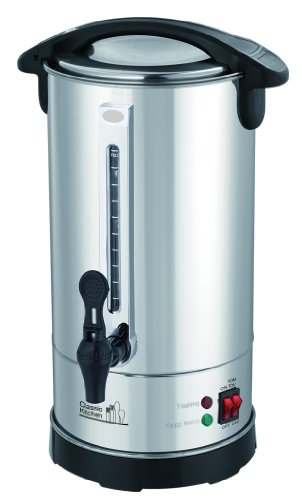 40 Cup Stainless Steel Double Wall Insulated Hot Water Urn - Water Boiler with Holiday (Yomtov) Switch and Cover Child Lock (Urn Water compare prices)