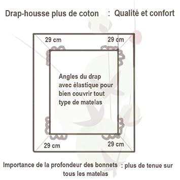 Sdfgfddvc0 En Discount Coton Housse Cm 80x200 Drap Bio Pur AOa47q8w