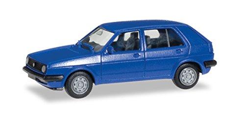 Herpa-012195-005-Mini-Kit-VW-Golf-II-Fahrzeuge-4-trig-blau