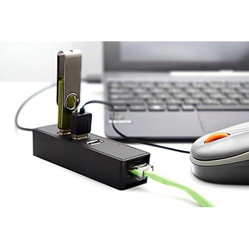カナル型 USBハブ3ポート&有線LANアダプタ USB2.0 有線LANアダプタ&高速LANアダプタ ネットブック 周辺機器 Windows 対応並行輸入品
