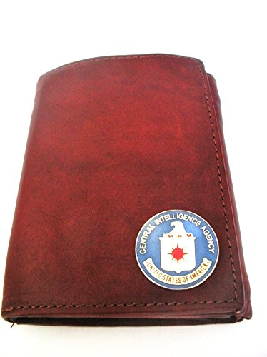 Central Intelligence Agency(CIA) Men's Brown Tri-fold Italian Leather Wallet (Cia Italian compare prices)