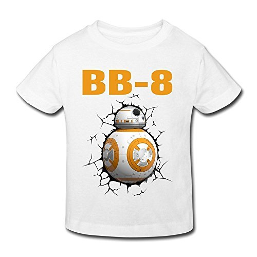 Seico Stay Cute BB8 Robot T-shirt For Unisex Toddlers 5-6 Toddler White (Space Cup Tee compare prices)