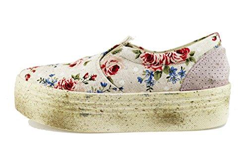 BEVERLY HILLS POLO CLUB sneakers donna 39 EU multicolor tela camoscio AG02