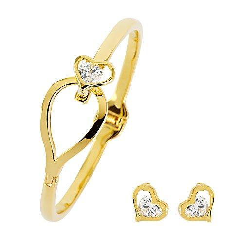 pierre-cardin-ladies-impresionante-chapado-en-oro-de-corazon-pulsera-con-pendientes-a-juego