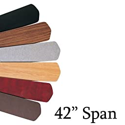 Emerson B42WA Plywood Blades, 16.75-Inch Long, 6-Inch Wide, Walnut, Set of 5