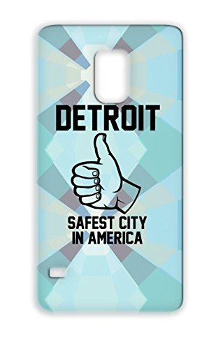 Safety First Black Case Cover For Sumsang Galaxy S5 The D Pure Michigan Detroit Cities Countries Murder Mitten Great Lakes Tigers Lions Capitol front-1026488