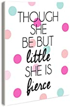 The Kids Room by Stupell Though She Be But Little Polka Dot Rectangle Wall Plaque