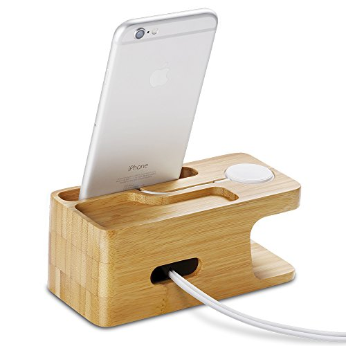 Spigen-S370-Apple-Watch-Wood-Stand-with-2-in-1-Cellphone-Combo-Stand-for-Apple-Watch-Series-1-Series-2-42mm-38mm-iPhone-7-7-Plus-6S-6S-Plus