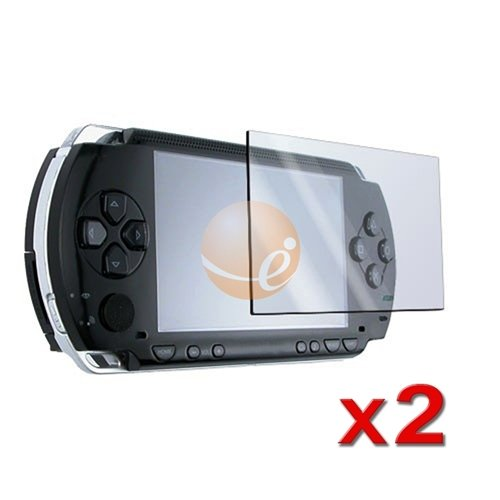2 Pack LCD Screen Protector + FREE CLOTH for SONY PSP