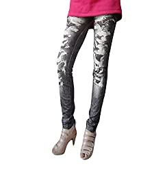 isweven Girls Slim Fit Jeggings(j06 Black Free Size)
