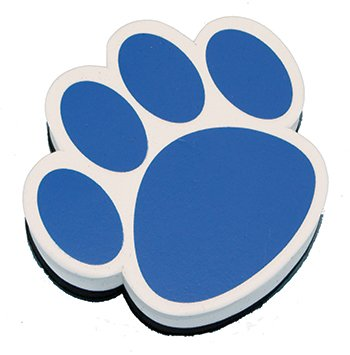 Ashley Productions Ash10002 Magnetic Whiteboard Eraser Blue Paw