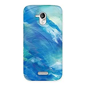 Delighted Art Blue Multicolor Back Case Cover for Micromax Canvas HD A116