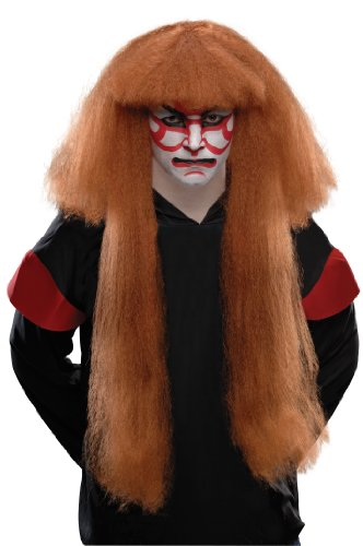 Rubie's Costume Kabuki Wig, Brown, One Size
