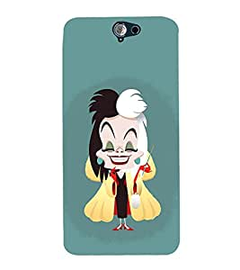 Fuson Premium Back Case Cover Magician girl With blue Background Degined For HTC One A9