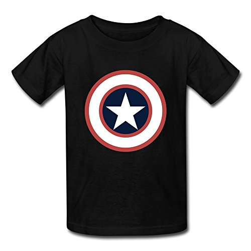 YOXO Childrens/Kids Captain America Unisex Short Sleeve T-Shirt