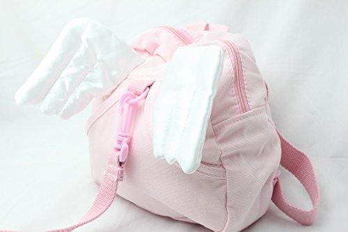 かわいすぎる ! 天使 の 翼 迷子 防止 リード 付き 子供 ハーネス リュック かわいい 羽 安全 安心 (ピンク)