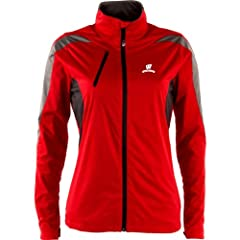 Antigua Wisconsin Badgers Ladies Full Zip Discover Jacket by Antigua