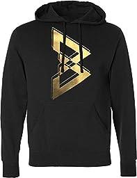 Beast Mode Men\'s Black & Gold Hoodie Large Black