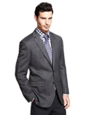 Collezione Wool Blend 2 Button Tailored Fit Jacket